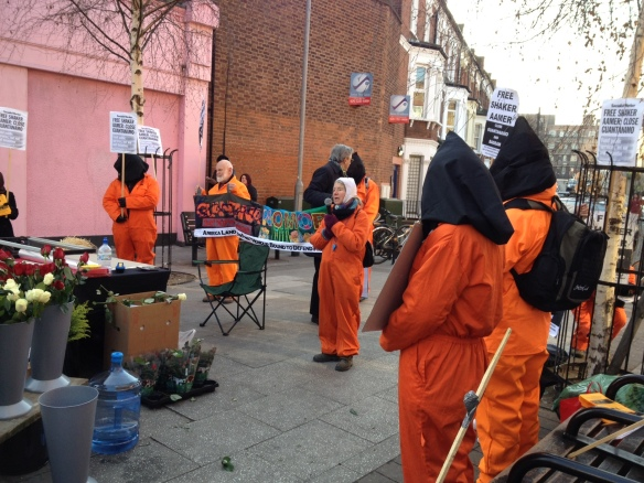Save Shaker Aamer protest, Clapham Junction, February 11