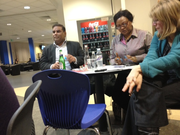 Khalid Mahmood, Maria Kerr and Vicky Pietersen