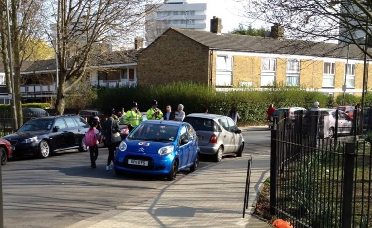Police outside Ganley Court