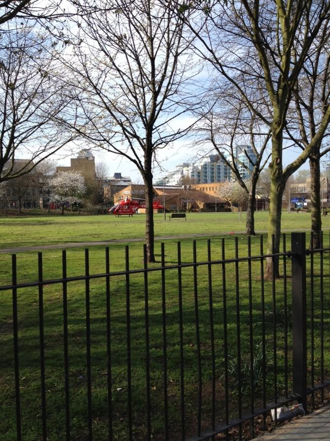 Air Ambulance at York Gardens