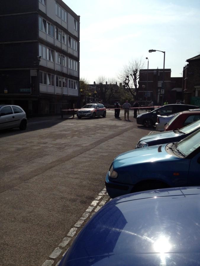The crime scene, Fowler Close