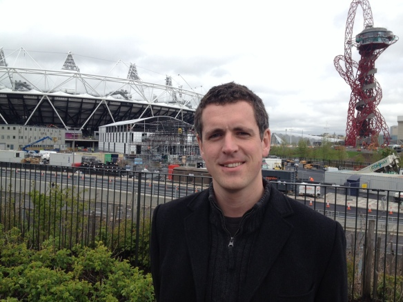 Simon Hogg at the Olympic Park