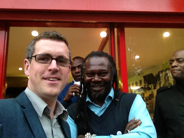Cllr Simon Hogg (left) and Levi Roots at the Big Local consultation