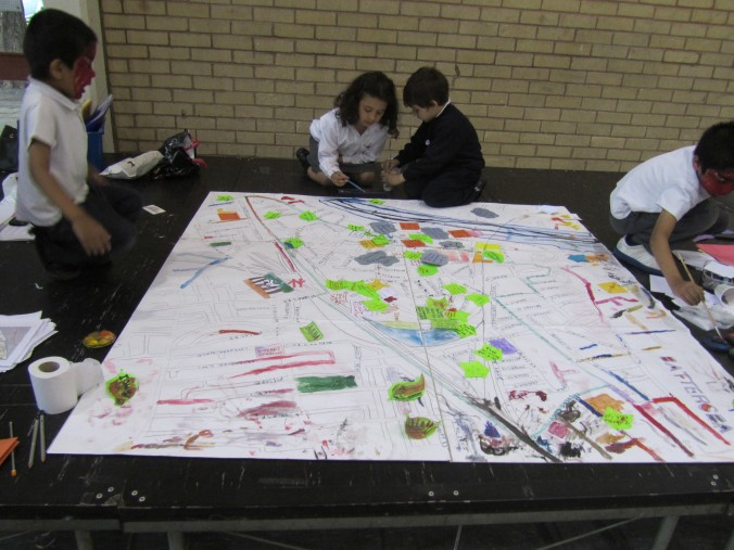 Local children take part in the consultation