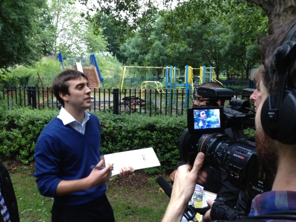 Will Martindale interviewed at the derelict Doddington playground