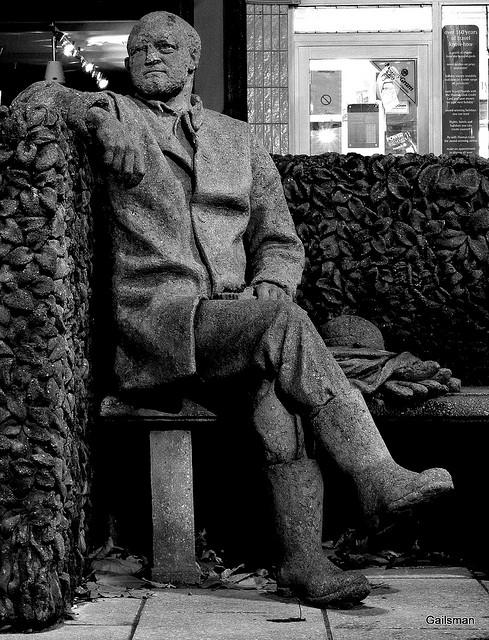 The 'Bee Man' sculpture on Beeston's High Road