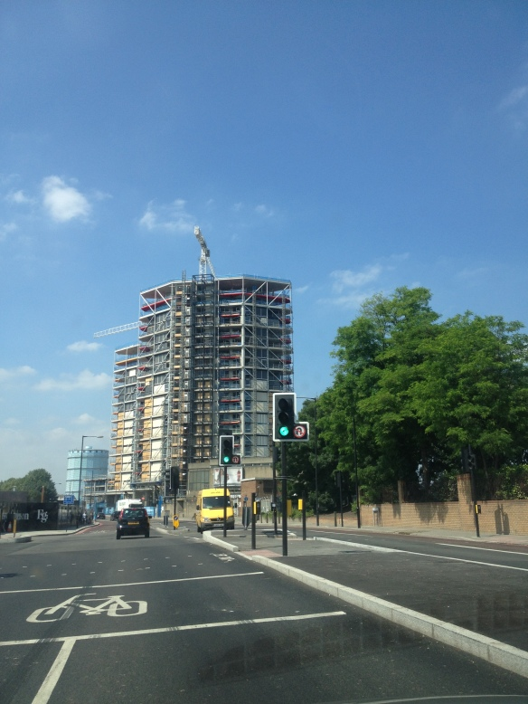The Riverlight development under construction in Nine Elms