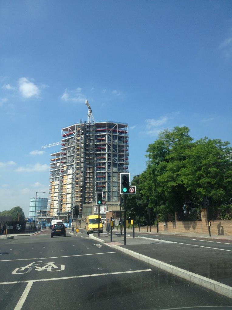 The Riverlight development under construction in Nine Elms