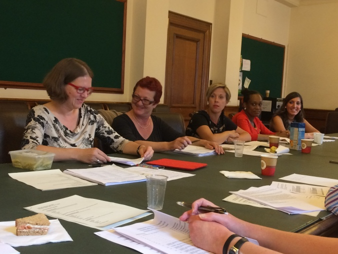 July: In the Town Hall with new councillors Fleur Anderson, Sue McKinney, Candida Jones, Sally-Ann Ephson and Rosena Allin-Khan. Wandsworth's Labour Group grew from 13 councillors to 19, with women in the majority for the first time