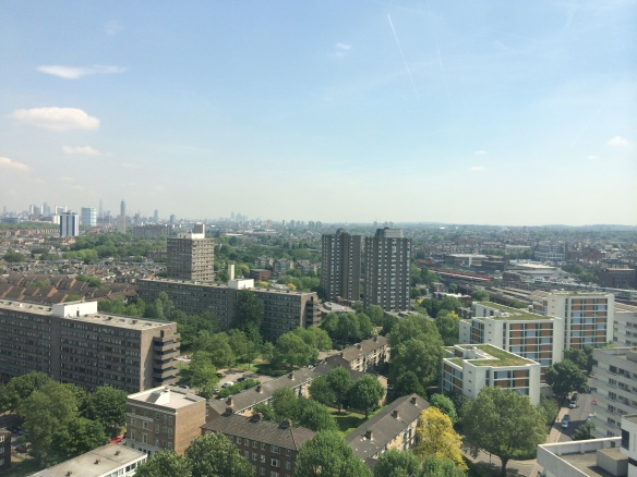 August: The Winstanley Estate seen from the top of Sporle Court. The demolition and regeneration of the estate has been a major issue in 2014
