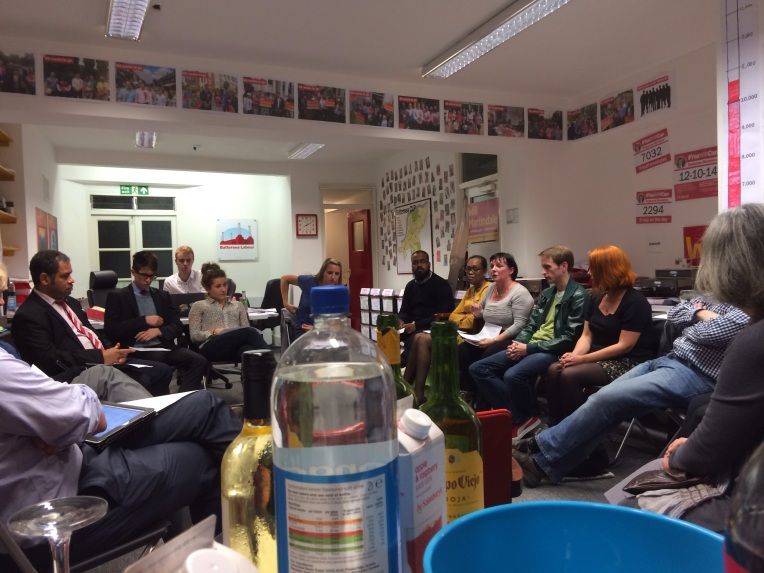 November: Discussion at Battersea Labour Party All-Member Meeting, 177 Lavender Hill