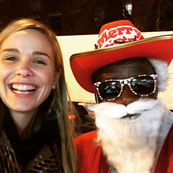 December: Joseph Afrane, of Shepard House, dresses as Santa