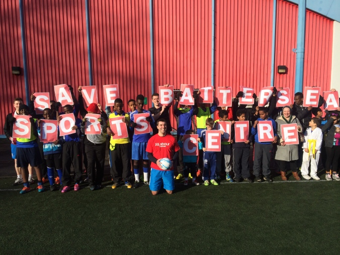 Will Martindale and users of Battersea Sports Centre campaign to save it from closure