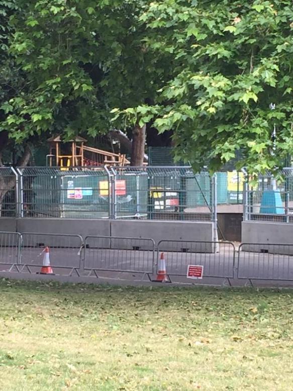Battersea Park prepars for Formula E - image via @SaveBattPark