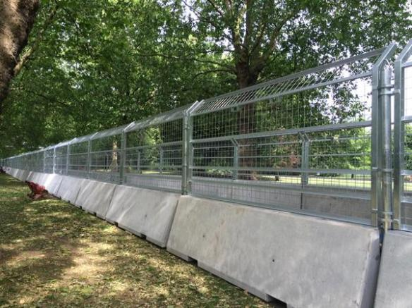 Battersea Park prepars for Formula E - image via @SaveBattPark